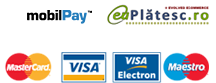 MobilPay, MasterCard, Visa, Maestro