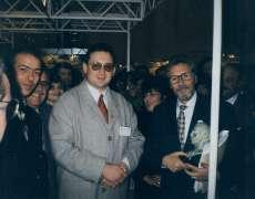 Alin Burcea impreuna cu Presedintele Romaniei Emil Constantinescu,1997